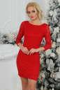 Коктейльное платье футляр красного цвета 2218.12|интернет-магазин vvlen.com