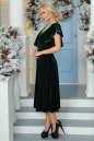Вечернее платье с расклешённой юбкой темно-зеленого цвета 2465.26 No1 интернет-магазин vvlen.com
