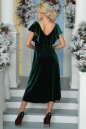 Вечернее платье с расклешённой юбкой темно-зеленого цвета 2465.26 No3 интернет-магазин vvlen.com