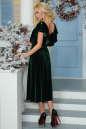 Вечернее платье с расклешённой юбкой темно-зеленого цвета 2465.26 No4 интернет-магазин vvlen.com