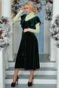 Вечернее платье с расклешённой юбкой темно-зеленого цвета 2465.26 No6 интернет-магазин vvlen.com