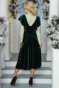 Вечернее платье с расклешённой юбкой темно-зеленого цвета 2465.26 No7 интернет-магазин vvlen.com