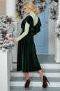 Вечернее платье с расклешённой юбкой темно-зеленого цвета 2465.26 No8 интернет-магазин vvlen.com