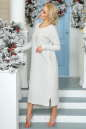 Повседневное платье  мешок светло-серого цвета 2470.91 No1|интернет-магазин vvlen.com