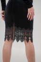 Коктейльное платье футляр черного цвета 2624-1.26 No3|интернет-магазин vvlen.com