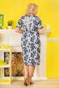 Летнее платье футляр белого с синим цвета No5|интернет-магазин vvlen.com