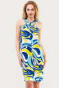 Летнее платье  мешок голубого тона цвета 1107.20 No0|интернет-магазин vvlen.com