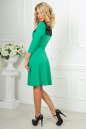 Коктейльное платье с расклешённой юбкой зеленого с черным цвета 2482.47 No2|интернет-магазин vvlen.com