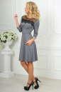 Коктейльное платье с расклешённой юбкой серого с черным цвета 2482.47 No2|интернет-магазин vvlen.com
