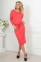 Повседневное платье футляр кораллового цвета 2478.65 No1|интернет-магазин vvlen.com