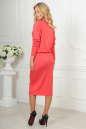 Повседневное платье футляр кораллового цвета 2478.65 No3|интернет-магазин vvlen.com