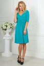 Повседневное платье с расклешённой юбкой бирюзового цвета No2|интернет-магазин vvlen.com
