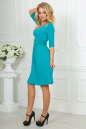 Повседневное платье с расклешённой юбкой бирюзового цвета No3|интернет-магазин vvlen.com
