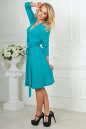 Повседневное платье с расклешённой юбкой бирюзового цвета 2476.65 No3|интернет-магазин vvlen.com