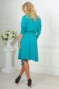 Повседневное платье с расклешённой юбкой бирюзового цвета 2476.65 No5|интернет-магазин vvlen.com