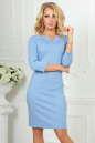 Офисное платье серо-голубого цвета No0|интернет-магазин vvlen.com