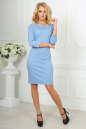 Офисное платье серо-голубого цвета No2|интернет-магазин vvlen.com