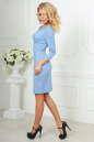 Офисное платье серо-голубого цвета No3|интернет-магазин vvlen.com