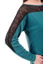 Повседневное платье футляр бирюзового цвета No4|интернет-магазин vvlen.com