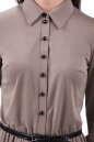 Повседневное платье с расклешённой юбкой бежевого цвета 2112.56 No4|интернет-магазин vvlen.com
