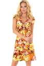 Летнее платье трапеция оранжевого цвета No4 интернет-магазин vvlen.com
