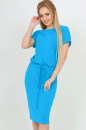 Повседневное платье футляр бирюзового цвета|интернет-магазин vvlen.com
