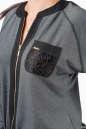 Женский комбинезон брючный серого цвета 2381.41 No3|интернет-магазин vvlen.com