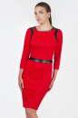 Офисное платье футляр красного цвета 2375 .77 No0|интернет-магазин vvlen.com