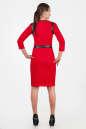 Офисное платье футляр красного цвета 2375 .77 No3|интернет-магазин vvlen.com
