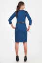 Офисное платье футляр синего цвета 2375.77 No3|интернет-магазин vvlen.com