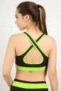 Топ для фитнеса черного с зеленым цвета No2|интернет-магазин vvlen.com
