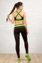 Топ для фитнеса черного с зеленым цвета No6|интернет-магазин vvlen.com