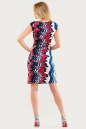 Летнее платье трапеция синего с красным цвета No3 интернет-магазин vvlen.com