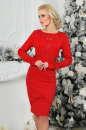 Коктейльное платье футляр красного цвета 2421.47|интернет-магазин vvlen.com