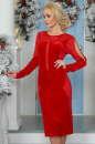 Коктейльное платье футляр красного цвета 2440.26|интернет-магазин vvlen.com