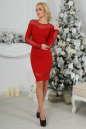 Коктейльное платье футляр красного цвета 2443.47 No2|интернет-магазин vvlen.com