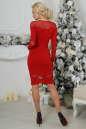 Коктейльное платье футляр красного цвета 2443.47 No4|интернет-магазин vvlen.com