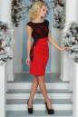 Коктейльное платье футляр красного цвета 1946-1.47 No1|интернет-магазин vvlen.com