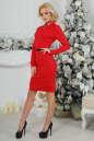 Офисное платье футляр красного цвета No1|интернет-магазин vvlen.com