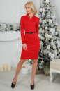 Офисное платье футляр красного цвета No2|интернет-магазин vvlen.com