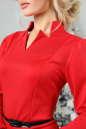 Офисное платье футляр красного цвета No4|интернет-магазин vvlen.com