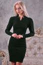 Офисное платье футляр зеленого цвета|интернет-магазин vvlen.com
