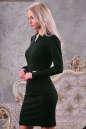 Офисное платье футляр зеленого цвета 2186.47 No1|интернет-магазин vvlen.com