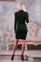 Офисное платье футляр зеленого цвета 2186.47 No2|интернет-магазин vvlen.com