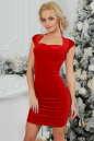 Коктейльное платье футляр красного цвета 2446.26 No0|интернет-магазин vvlen.com
