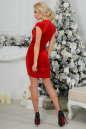 Коктейльное платье футляр красного цвета 2446.26 No2|интернет-магазин vvlen.com