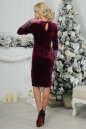 Коктейльное платье футляр сиреневого с черным цвета 2438.26 No3|интернет-магазин vvlen.com