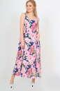 Летнее платье  мешок синего с розовым цвета|интернет-магазин vvlen.com
