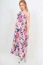 Летнее платье  мешок синего с розовым цвета No1 интернет-магазин vvlen.com