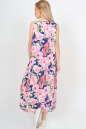 Летнее платье  мешок синего с розовым цвета No2 интернет-магазин vvlen.com